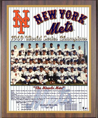 1969 Mets World Champions Healy plaque