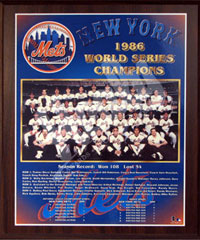 1986 Mets World Champions Healy plaque