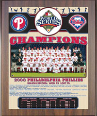 2008 Phillies World Champions Healy plaque