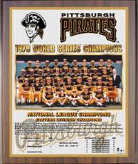 1979 Pirates World Champions Healy plaque
