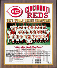 1975 Reds World Champions Healy plaque