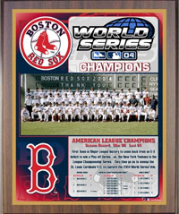 2004 Red Sox World Champions Healy plaque