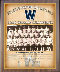1924 Senators World Champions Healy plaque