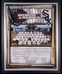 2005 White Sox World Champions Healy plaque