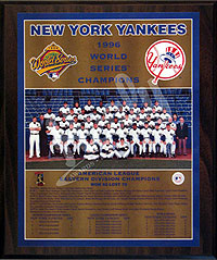 1996 Yankees World Champions Healy plaque
