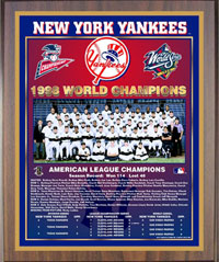 1998 Yankees World Champions Healy plaque