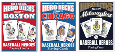 Baseball hero playing cards