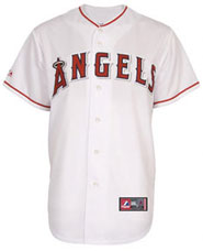 Los Angeles Angels team and player jerseys