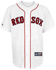 Boston Red Sox team and player jerseys