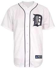 Detroit Tigers team and player jerseys