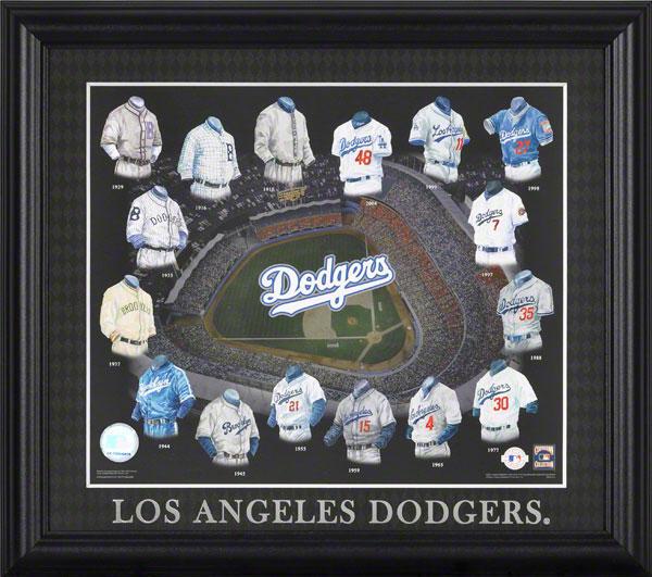 Los Angeles Dodgers Uniform Evolution Collage