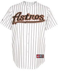 Houston Astros team and player jerseys