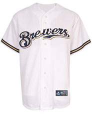 Milwaukee Brewers team and player jerseys