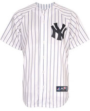 New York Yankees team and player jerseys