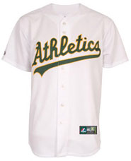 Oakland A's team and player jerseys
