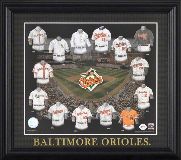 c34bceef2200f Baltimore Orioles Uniform Evolution Collage