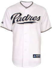 San Diego Padres team and player jerseys