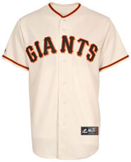 San Francisco Giants team and player jerseys