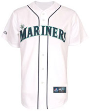 Seattle Mariners team and player jerseys
