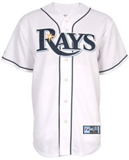 Tampa Bay Rays team and player jerseys