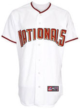 Washington Nationals team and player jerseys