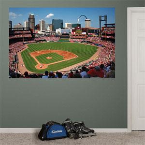 Busch stadium mural for Baseball stadium wall mural kit