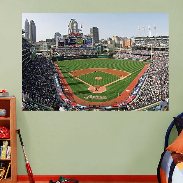 Progressive field mural for Baseball field mural