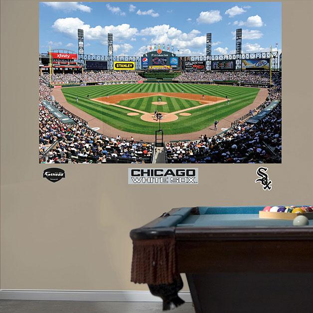 U s cellular field mural for Baseball stadium mural