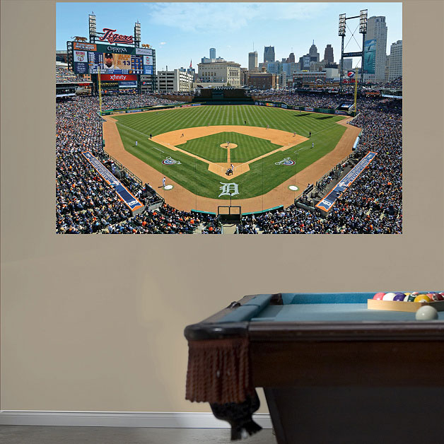 Man cave wall murals bathroom accessories novelty bathroom for Baseball stadium mural wallpaper