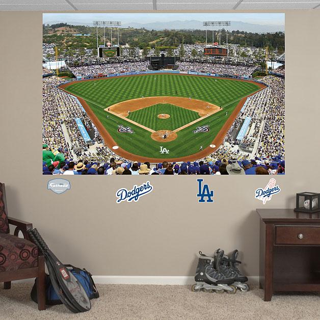 Dodger stadium mural for Baseball field mural