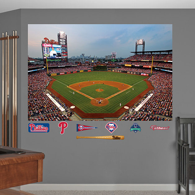 Citizens Bank Park Mural On Wall Phillies Ballpark And Logos Displayed On  Wall Part 74