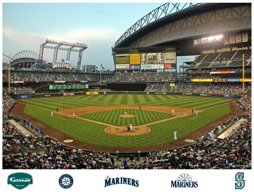 Safeco field wallpaper images for Baseball stadium mural wallpaper