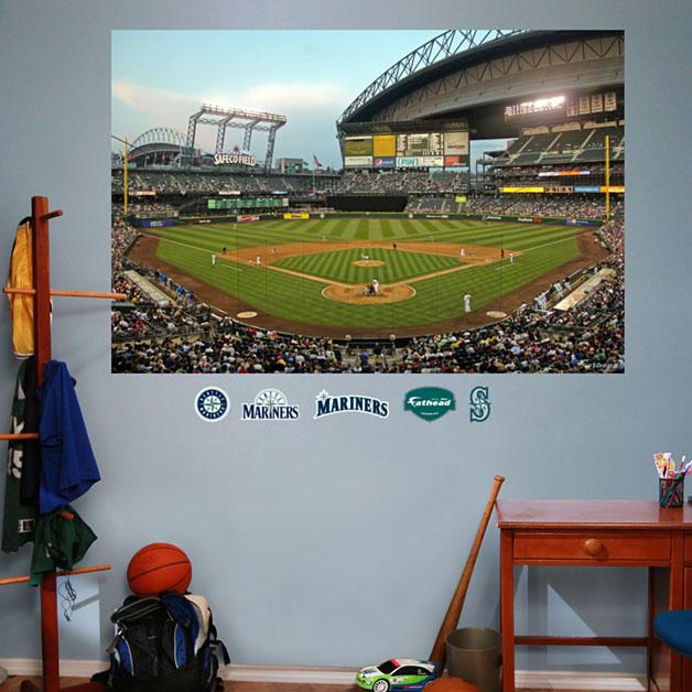 Safeco field mural for Baseball field mural