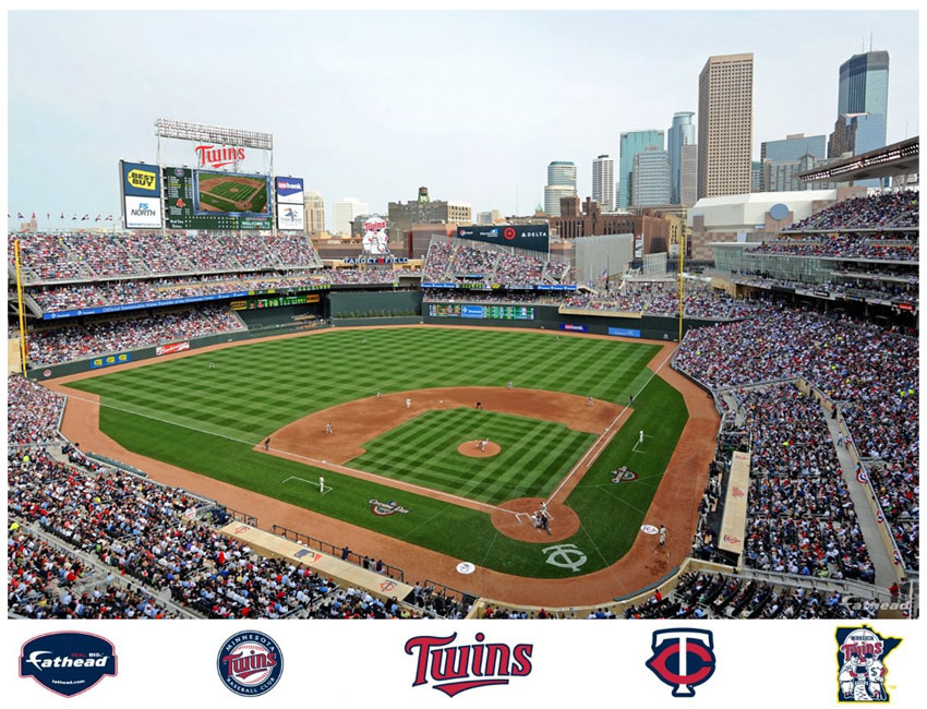 Target field mural for Baseball field wall mural