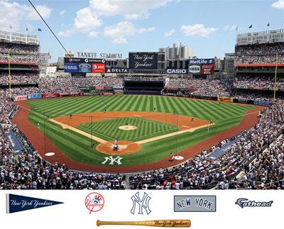 Yankee stadium mural for Baseball stadium mural