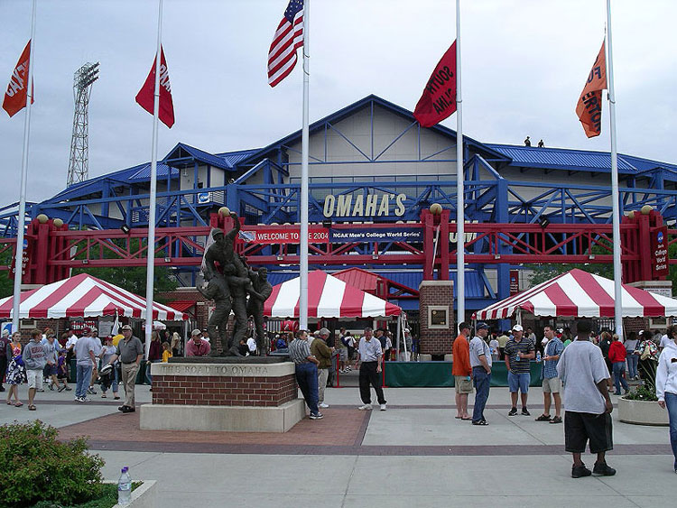 The exterior of Rosenblatt Stadium
