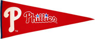Phillies wool pennants