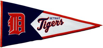 80s90s Detroit Tigers Baseball Pennant