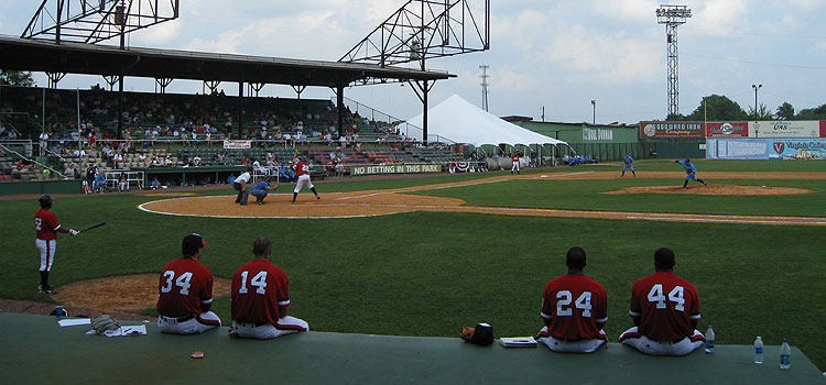 Birmingham's Rickwood Field becomes the first century old ballpark to host a pro game in 2010