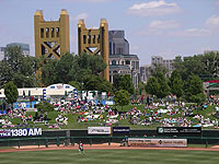 The Sacramento skyline and Tower Bridge give Raley Field one of baseball's better backdrops