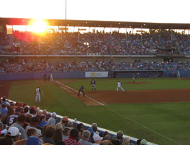 Sunset at Drillers Stadium