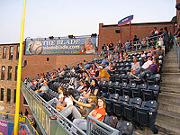 The home run porch at Fifth Third Field in Toledo