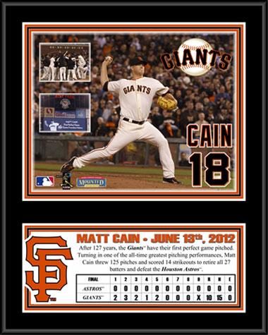 Matt Cain Perfect Game Plaque