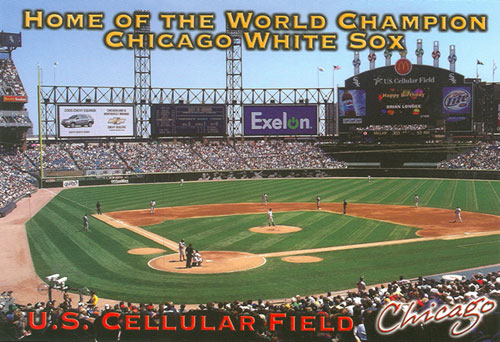 U.S. Cellular Field postcard by Graham Knight