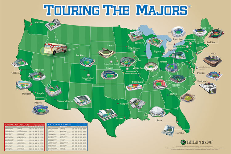Ballparkmap - Maps Posters