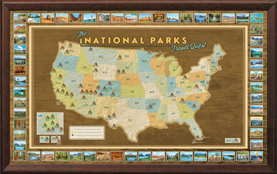 National Parks Travel Map Poster