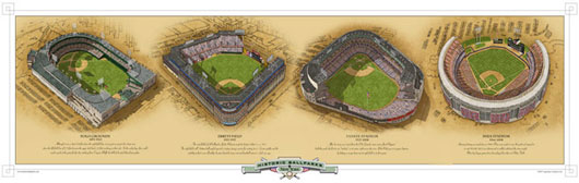 New York ballparks poster