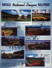 Classic ballparks of the National League poster