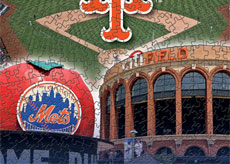 Citi Field with Mets logo puzzle