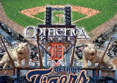 Comerica Park with Tigers logo puzzle